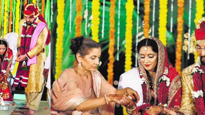 Kabir Bedi, Parveen Dusanj wedding image courtesy: Kabir Bedi's Twitter account