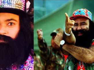 Image Courtesy: Kiku Sharda's Twitter account, (Right) Gurmeet Ram Rahim Singh in MSG: The Messenger
