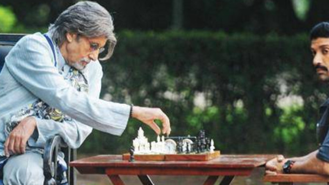 Amitabh Bachchand and Farhan Akhtar in Wazir