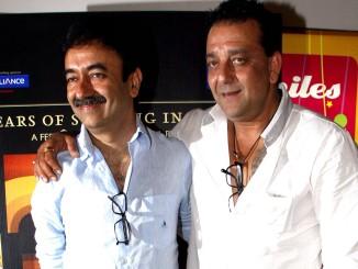 Rajkumar Hirani and Sanjay Dutt in happier times