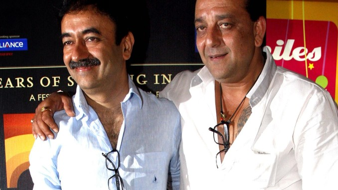 Rajkumar Hirani and Sanjay Dutt in happier times