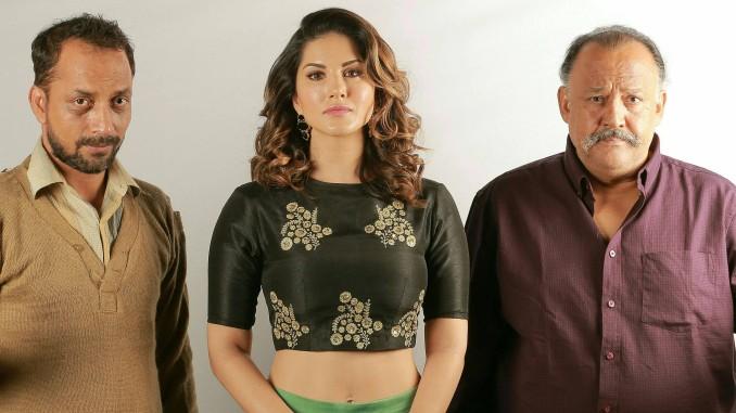 Deepak Dobriyal, Sunny Leone and Alok Nath