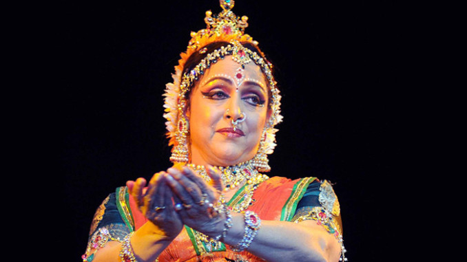 Hema Malini performing at a function