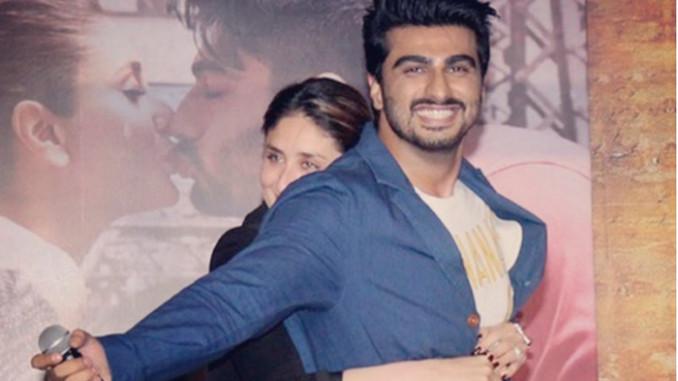 Kareena Kapoor Khan, Arjun Kapoor at Ki & Ka trailer launch. Image Courtesy: Instagram