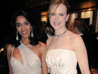 Mallika Sherawat and Nicole Kidman at the Oscars in 2011
