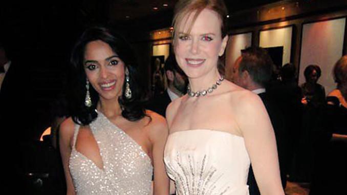 Mallika Sherawat and Nicole Kidman at the Oscars in 2011