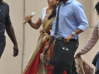 Preity Zinta snapped during an AD shoot