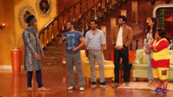 Salman Khan on Comedy Nights Live. Image Courtesy: Twitter