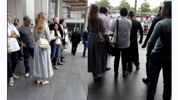 Salman Khan, Iulia Vantur spotted in Dubai. Image Courtesy: Twitter