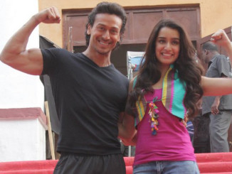 Tiger Shroff, Shraddha Kapoor on the sets of Baaghi