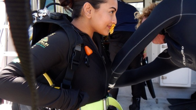 Sonakshi Sinha Gearing Up For Scuba Diving In Australia