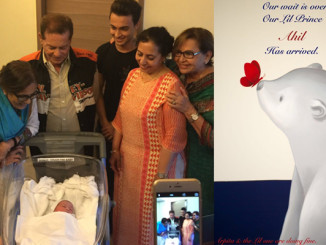 Khan and Sharma families with the new-born. Image Courtesy: Twitter