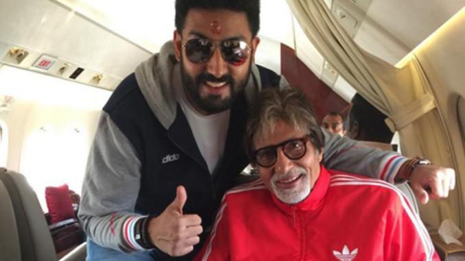 Abhishek Bachchan with Amitabh Bachchan. Image Courtesy: Instagram