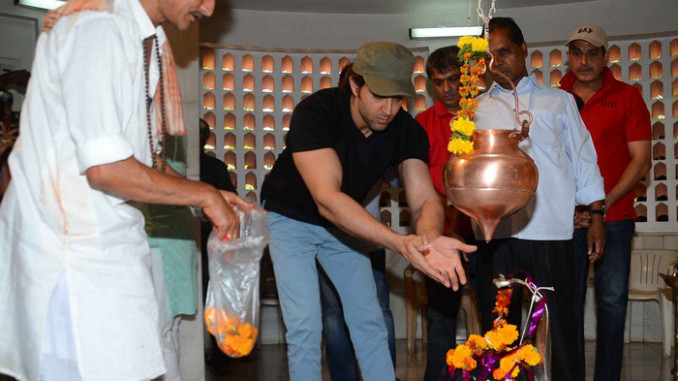 Hrithik Roshan at the temple