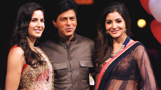 Katrina Kaif, Shah Rukh Khan and Anushka Sharma