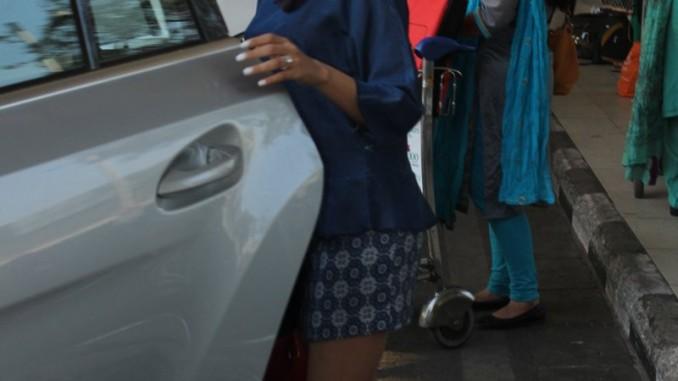 Mira Rajput at the airport