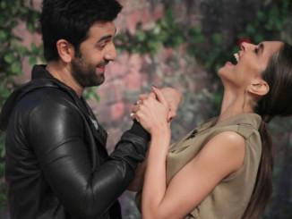 Ranbir Kapoor, Deepika Padukone during the promotios of 'Tamasha'