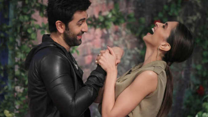Ranbir Kapoor, Deepika Padukone during the promotios of 'Tamasha'