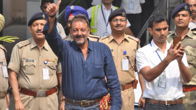 Sanjay Dutt walks out of jail