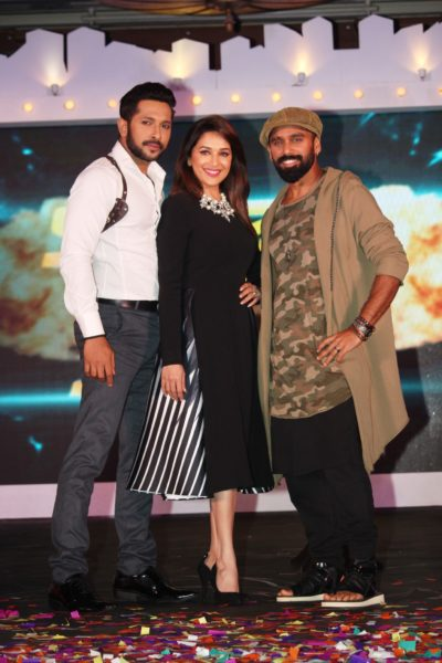 Bosco Martis, Madhuri Dixit and Terence Lewis