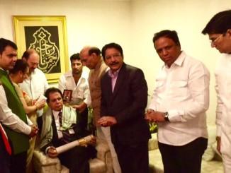 Dilip Kumar receives Padma Vibhushan in 2015