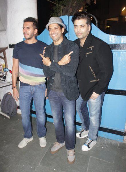 Riteish Sidhwani, Farhan Akhtar, Karan Johar