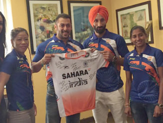 Salman Khan at the press conference to announce his association with Rio Olympics 2016