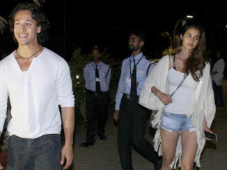 Tiger Shroff and Disha Patani try to avoid getting clicked together