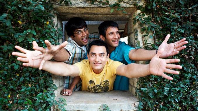 Aamir Khan, R Madhavan, Sharman Joshi in 3 idiots
