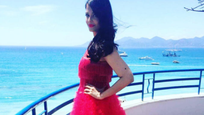 Aishwarya Rai Bachchan at Cannes. Image Courtesy: Twitter