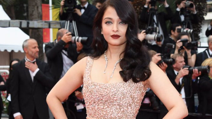 Aishwarya Rai Bachchan at Cannes 2016 in Elie Saab gown. Image Courtesy: Twitter