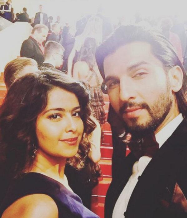Avika Gor with Manish Raisinghani at Cannes 2016
