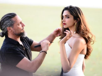 Deepika Padukone shooting for the ad campaign