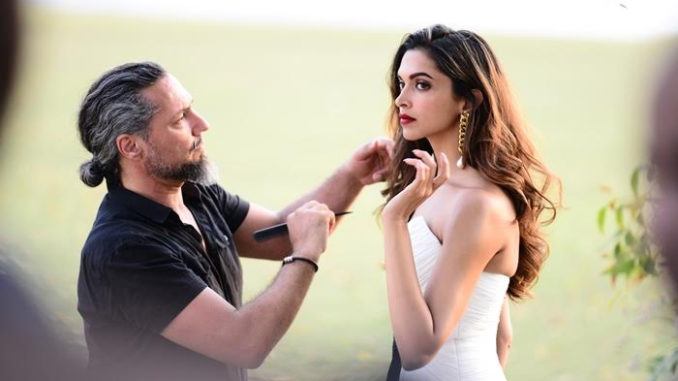 Deepika Padukone shooting for the ad campaign