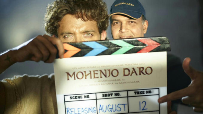 Hrithik Roshan, Ashutosh Gowariker on the sets of Mohenjo Daro