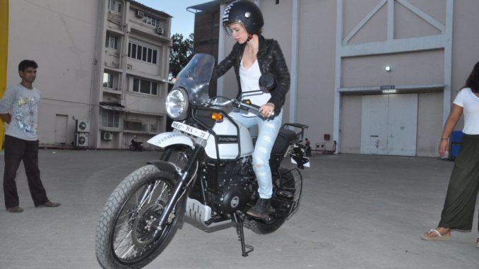 Kalki Koechlin rides a bike