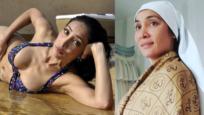 Sofia Hayat, before and after her spiritual transformation