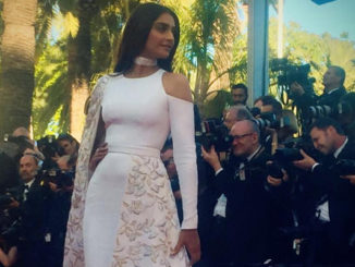 Sonam Kapoor on the red carpet at Cannes Film Festival