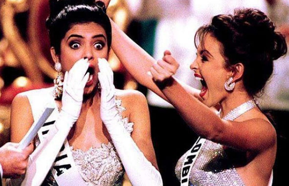 Sushmita Sen announced Miss Universe in 1994