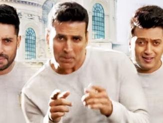 Abhishek Bachcha, Akshay Kumar, Riteish Deshmukh in Housefull 3