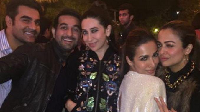Arbaaz Khan, Shakeel Ladak, Karisma Kapoor, Malaika Arora Khan, Amrita Aroa Ladak party together. Image Courtesy: Instagram