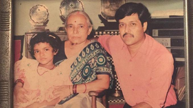 Priyanka Chopra with her Nani and father. Image Courtesy: Instagram