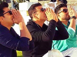 Riteish Deshmukh, Akshay Kumar, Abhishek Bachchan in Housefull 3