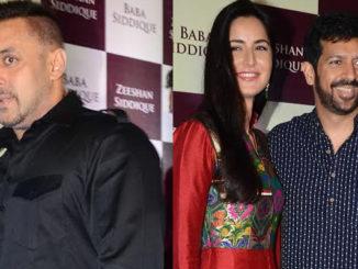 Salman Khan, Katrina Kaif, Kabir Khan at Baba Siddique's Iftar party