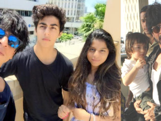 Shah Rukh Khan with Aryan, Suhana and AbRam