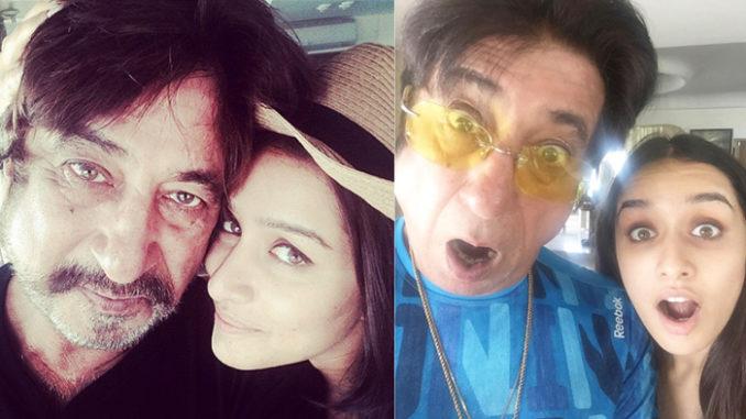 Shakti Kapoor, Shraddha Kapoor. Image Courtesy: Instagram