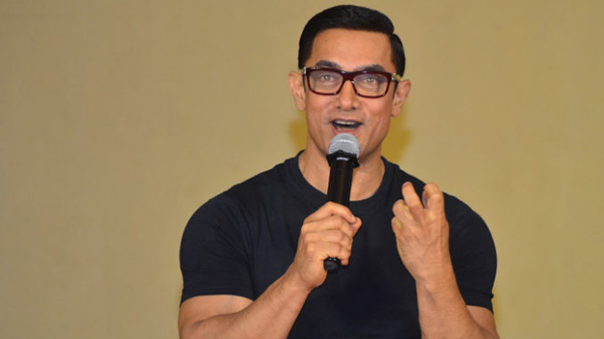Aamir Khan at Dangal poster launch