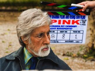 Amitabh Bachchan shooting for Pink in Delhi