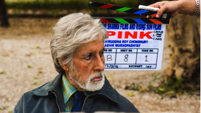 Amitabh Bachchan shooting for Pink in Delhi