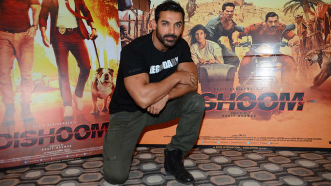 John Abraham at the promotions of Dishoom